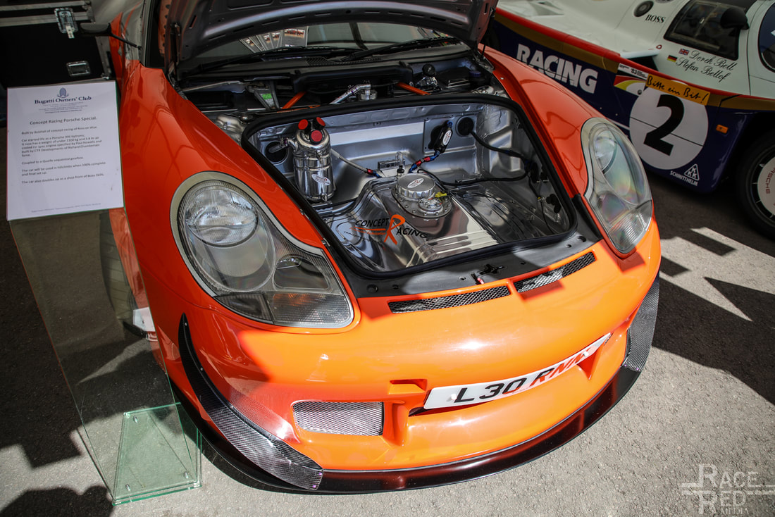 Portsche at Prescott Porsche Concept racing special by Bobtail. 3.8 RSR spec engine and Quaife Sequential gearbox