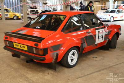 Ford Escort MkII 2.0l rally car at Race Retro 2018